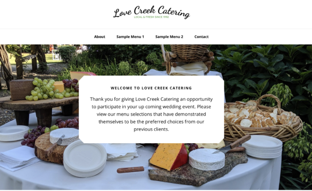 Love Creek Catering Site Image